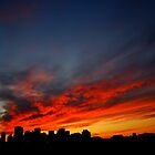 Edmonton Skyline and Sunset by Randall Talbot