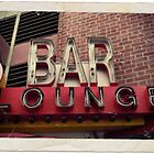 Vintage Bar Sign by John Netto