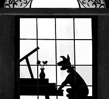 Doggy  in the Window by Richard Gaffney