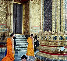 Monks at the Palace by Charmiene Maxwell-batten