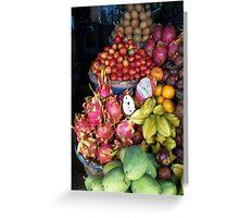 Bedugul fruit stand Greeting Card