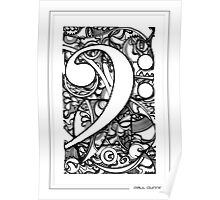 BASS CLEF DOODLE Poster
