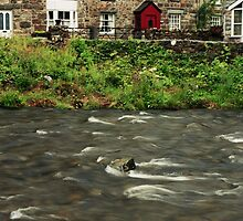 Beddgelert River by Thomas Martin