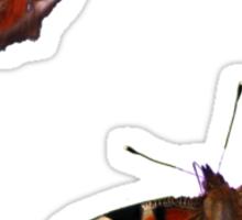 Peacock Butterflies Sticker