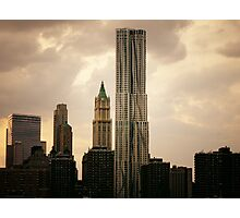 New York by Gehry and the New York City Skyline Photographic Print
