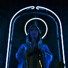 Neon Mary by Federico Del Monte