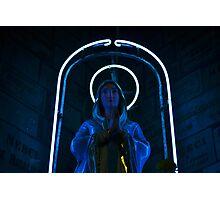 Neon Mary Photographic Print