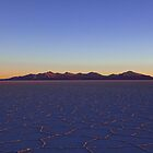 Sunset at Salar of Uyuni, Salar, Altiplano, Sud Lipez, Chile border, Bolivia, South america by Thibaut PETIT-BARA