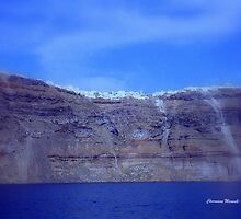 OIA , a village on a hill in Santorini! by Charmiene Maxwell-batten