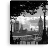 Parliament (a view from the South Bank) Canvas Print