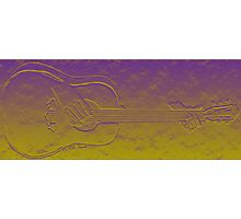 3D Guitar Abstract  Photographic Print