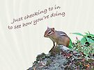 Just Checking In - Chipmunk Greeting Card by MotherNature