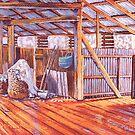 Corona Woolshed Interior #2 by Michael Jones