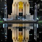 War Memorial reflected in Remberance Pool by Ian Berry