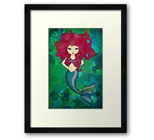 Some days I wear my hair, other days my hair wears me. Framed Print