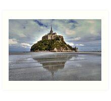 Mont Saint Michel Viewed by the Bay   Art Print