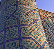 "Tower of a Madrasah in the Registan square, ""The Sandy place"" in Samarkand, Uzbekistan. by Thibaut PETIT-BARA"