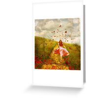 Her Yellow Brick Road Greeting Card