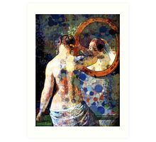MORNING MEETING WITH MIRROR Art Print