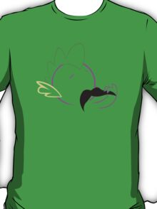 Spike Moustache Outline T-Shirt