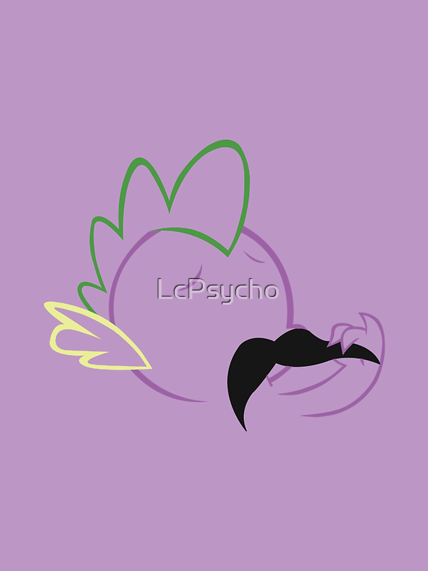 Spike Moustache Outline by LcPsycho