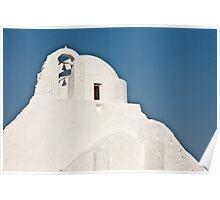 Pristine White Of Mykonos Poster