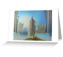 Oil painting on canvas Lost in Silence Greeting Card