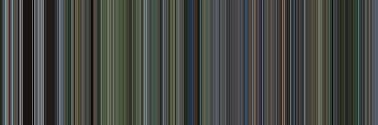 Moviebarcode: The Thin Red Line (1998) [Simplified Colors] by moviebarcode