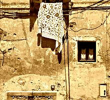 Out a Window-Calcata, Italy by Deborah Downes