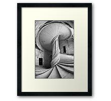 Chateau de la Rochefoucauld Stairway in B&W Framed Print