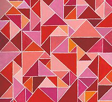 Composition in Red Triangles - By RanbowArt by RainbowArt