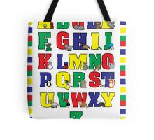 Animal Alphabet Poster (Primary Colors) Tote Bag