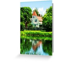 Suburban House with Reflection Greeting Card