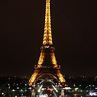 The Eiffel Tower at Night by Cat Brady