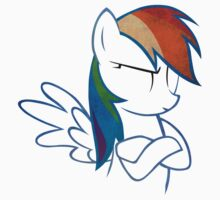 RainbowDash: Not amused Outline Kids Clothes