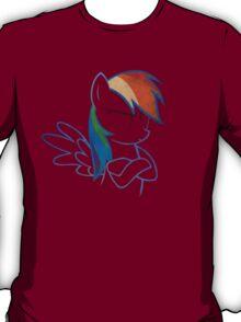 RainbowDash: Not amused Outline T-Shirt