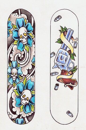 Skateboard designs by Daniel Blatchford