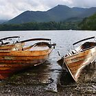 a lovely day for boating - Keswick the lake district by monkeyferret