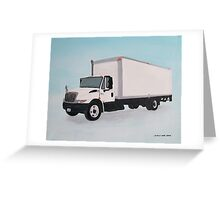 Straight Truck Greeting Card
