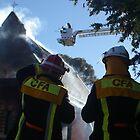 Church Fire in Bendigo by Steve Kendall