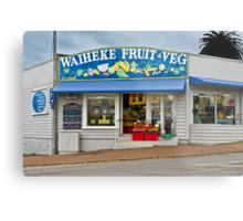 Waiheke Fruit and Veg Metal Print