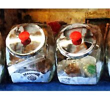 Two Glass Cookie Jars Photographic Print