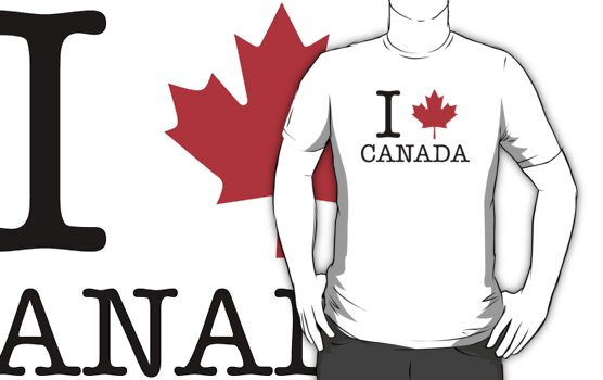 I Heart / Love Canada by CalumCJL