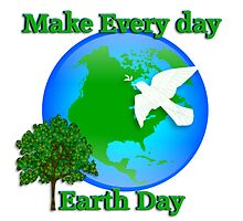 Earth day graphic by Irisangel