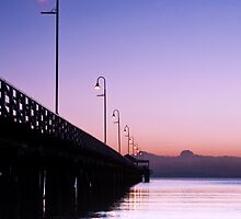 Shorncliffe Jetty Just b4 Dawn by Robin Reidy