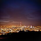 Auckland by night by Anthony Surace