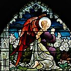 Stained Glass Window, Trinity Episcopal Church, Newport, RI by Gerda Grice