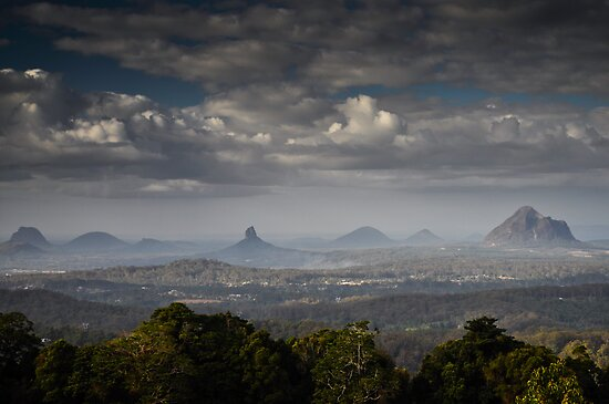 glass house mountains, queensland, australia by gary roberts