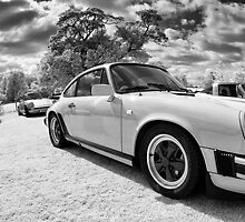 Porsche 911s in infrared by Chris Tarling