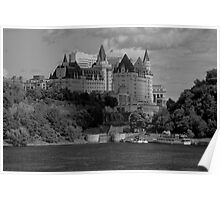 Chateau Laurier - B/W Poster
